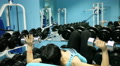 beautiful sexy woman train in the gym 2 Footage