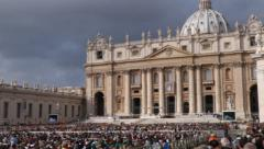 Pope in St. Peter's Square, Vatican City - stock footage