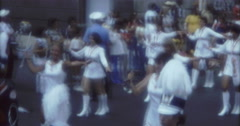New York Street Parade  70s 1974 16mm Dancing Girls - stock footage
