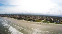Imagem aérea da costa de Itapoá, SC Stock Footage