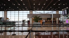 The new lounge of the Gru Airport in Sao Paulo, Brazil. - stock footage
