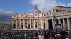 Papal Audience in St. Peter's Square, Vatican City Stock Footage