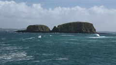Ballintoy Harbour, Northern Ireland Stock Footage
