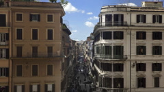 Time lapse from the Spanish Steps to the city of Rome Italy Stock Footage