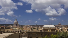 Time lapse of Rome Italy in the day Stock Footage