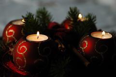 Four advent candles Stock Photos