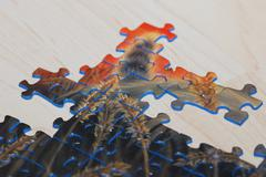 colorful puzzle - stock photo
