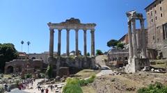 Roman Forum, Rome, Italy Stock Footage