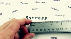 Measuring Success With A Ruler, 4K - stock footage