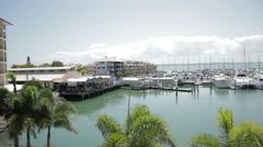 Boats on the Marina Stock Footage