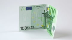 Euro rising concept Stock Footage