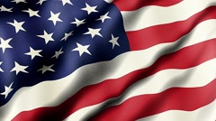 American Flag, Detail Stock Footage