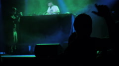 DJ in a clubparty at night club with DJ mixing 4 Stock Footage