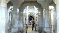 Ranakpur Temple 10 Stock Footage