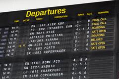 terminal info board - stock photo