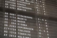 Stock Photo of terminal info board