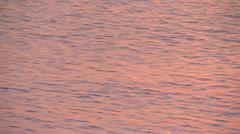 Fiji, Viti Levu, Orange Shimmer Sunset Water - stock footage