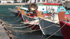 Fishing Boats in Mykonos, Greece. Not graded Stock Footage