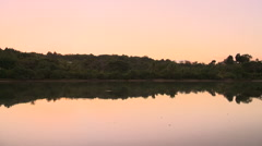 Fiji, Viti Levu, Shore and Evening Reflection 2 - stock footage