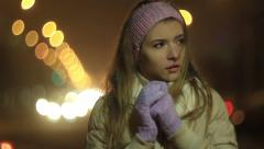 The girl froze Stock Footage