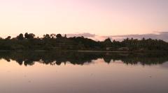 Fiji, Viti Levu, Shore and Evening Reflection 1 Stock Footage