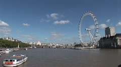 River Thames and the London Eye. Not graded. Stock Footage