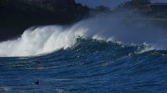 Waimea bay, north shore, oahu, hawaii Stock Footage