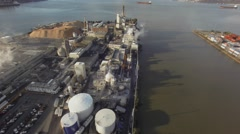 Industrial Factory On The River  Tacoma Stock Footage