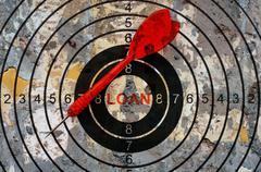 Loan target concept Stock Photos