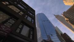 Pan around of tall buildings in new york city Stock Footage