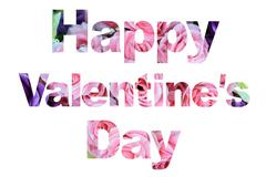 Word happy valentine's day Stock Photos