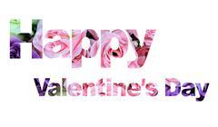 word happy valentine's day - stock photo