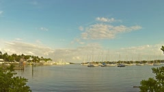 Time lapse video of the Dinner Key Marina in beautiful Coconut Grove Florida Stock Footage