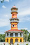 bang pa-in palace of in thailand - stock photo