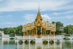 Bang pa-in palace of in thailand Stock Photos