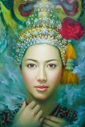 art exhibit his kho yai art  museum in bangkok - stock photo