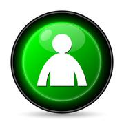 Stock Illustration of  user profile icon. internet button on white background..