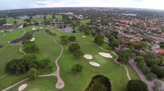 Miccosukee Golf & Country Club in Kendall Lakes area of Miami Florida Clip1 Stock Footage