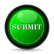 submit icon. internet button on white background.. Stock Illustration