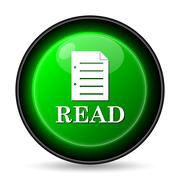 Stock Illustration of  read icon. internet button on white background..