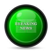 breaking news icon. internet button on white background.. Stock Illustration