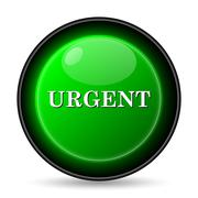 urgent icon. internet button on white background.. - stock illustration