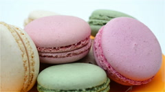 Macaroons rotating Stock Footage