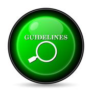 Stock Illustration of  guidelines icon. internet button on white background..