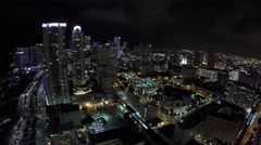 Downtown miami night aerial 4 4k Arkistovideo