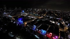 Ocean drive night aerial 8 Stock Footage