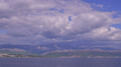 Blue sea and sky Stock Footage