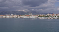 Arrival to Split by boat Stock Footage