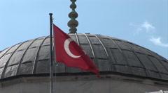 Turkish Flag. Not graded. - stock footage