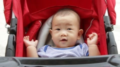 baby in stroller - stock footage
